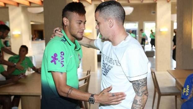 Neymar D'Alessandro Encontro Seleção Brasileira 09/06/2015