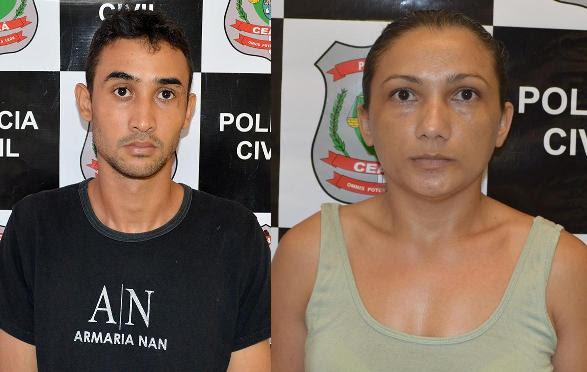 A dupla entrou e saiu da residência no mesmo horário que o  crime aconteceu, com uma diferença mínima de tempo (Foto: Polícia Civil do Ceará/Divulgação)