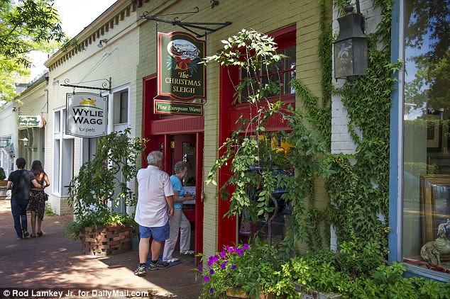 The couple run a successful German Christmas store, The Christmas Sleigh, in Middleburg, Virginia