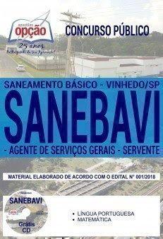 Apostila Concurso SANEBAVI 2018 | AGENTE DE SERVIÇOS GERAIS E SERVENTE