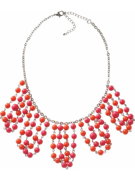 Old Navy Womens Beaded Waterfall Necklaces