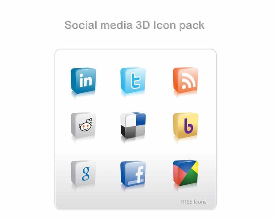 Social Media 3D Icon Pack