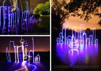 Cityscape Light Drawings by Michael Bosanko