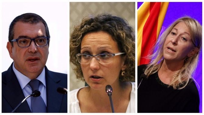 Els exconsellers Jordi Jané, Meritxell Ruiz i Neus Munté