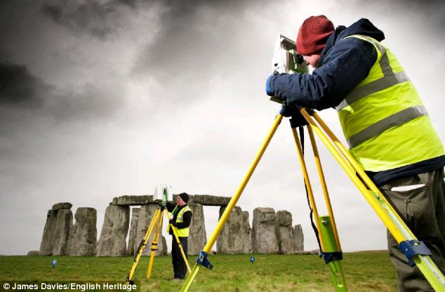 Study: Commissioned by English Heritage, the detailed laser scan and digital imaging of Stonehenge showed significant differences in how various stones were shaped and worked