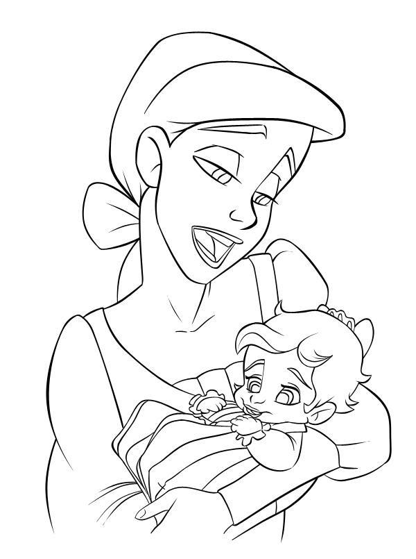 Progress: Ariel + Baby Melody by riaherod on DeviantArt