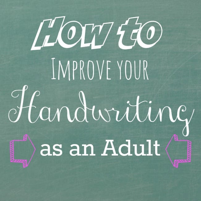 Exercises to Improve Handwriting as an Adult and Review of Fix it Write  The Artisan Life