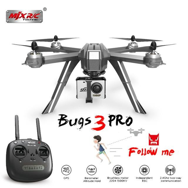 LeadingStar MJX Bugs 3 Pro B3 Pro RC Drone with 1080P Wifi FPV Camera GPS Follow Me Mode Brushless RC Helicopter Quadcopter