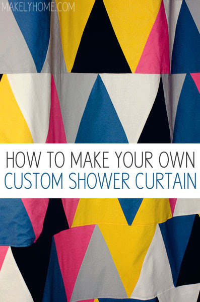 How To Make Your Own Diy Shower Curtain Makely