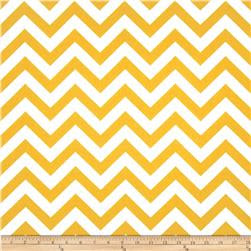 Premier Prints ZigZag Slub Yellow/White