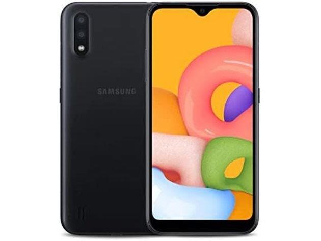 "Samsung Galaxy A01 SM-A015VZKAVZW 5.7"" Verizon 16GB/2GB Android Smartphone,Black (Refurbished, No Retail Box) for $74"