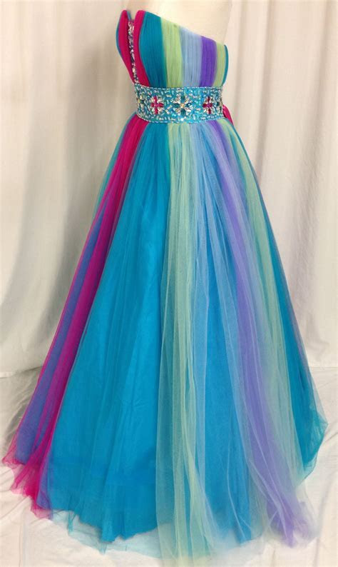 rainbow prom dress  pinterest rainbow dresses rainbow