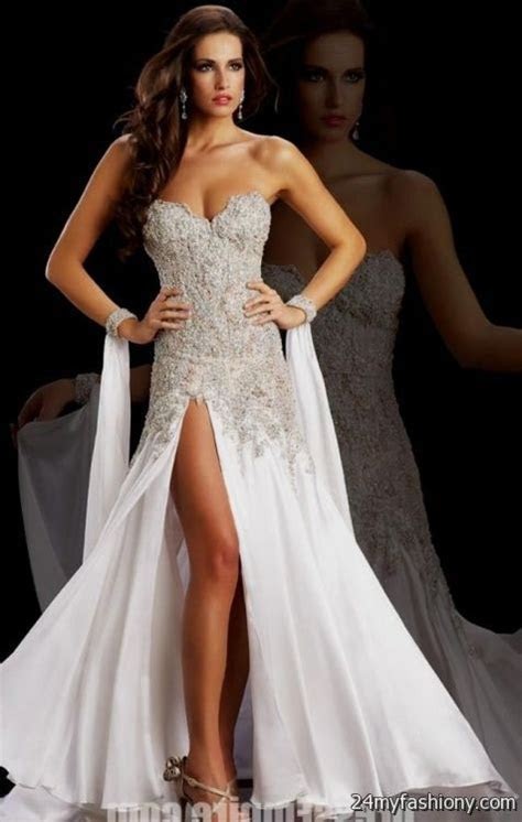 white prom dresses with diamonds looks   B2B Fashion