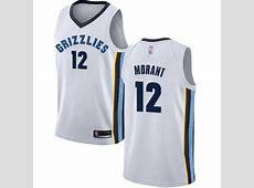 Grizzlies #12 Ja Morant White Basketball Swingman