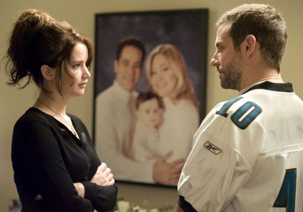 Pat (Bradley Cooper) and Tiffany (Jennifer Lawrence) meet for the first time in SILVER LININGS PLAYBOOK.