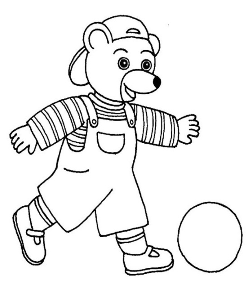 Coloriage Petit Ours Brun Page 4