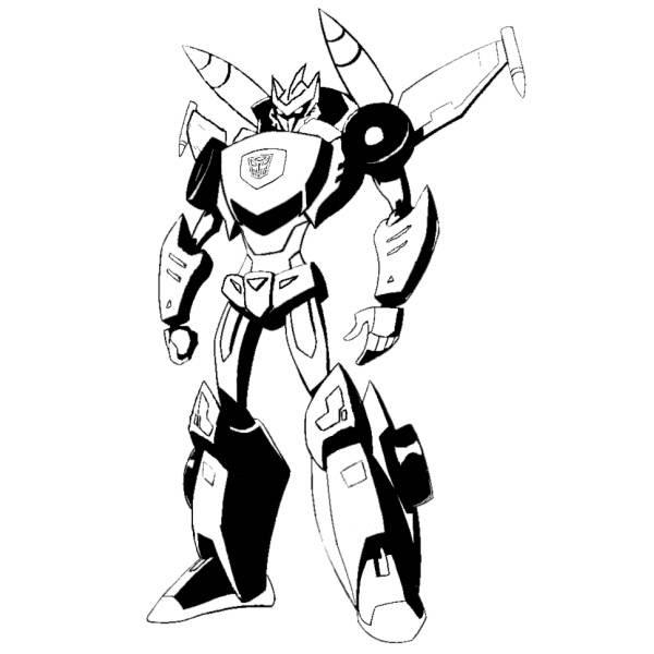 Disegno Di The Transformers Da Colorare Per Bambini