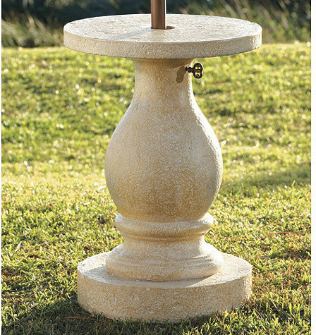 Baluster Patio Umbrella Stand - traditional - coat stands and ...