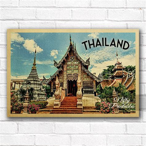 Thailand Vintage Travel Poster   Nifty Printables