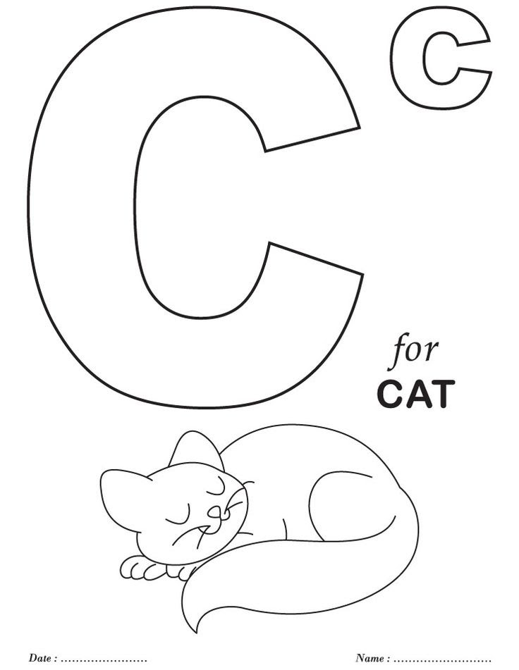 740 Top Coloring Pages Printable Letters Of The Alphabet , Free HD Download