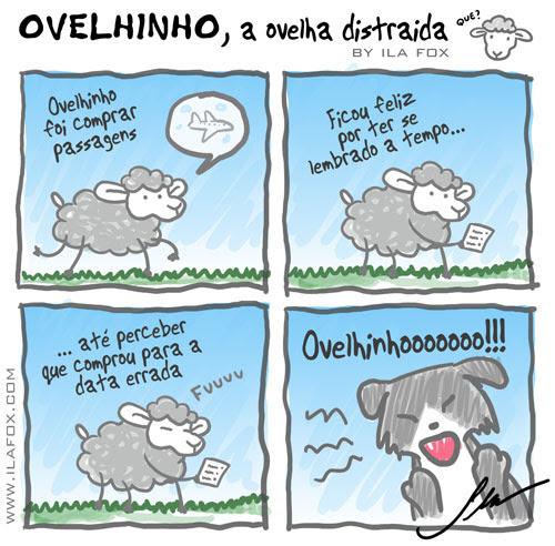 carneiro ovelha ovelhinho a ovelha distraída comprou a passagem na data errada by ila fox