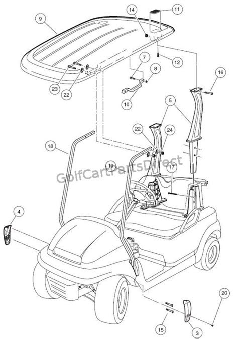 Canopy - Club Car parts & accessories