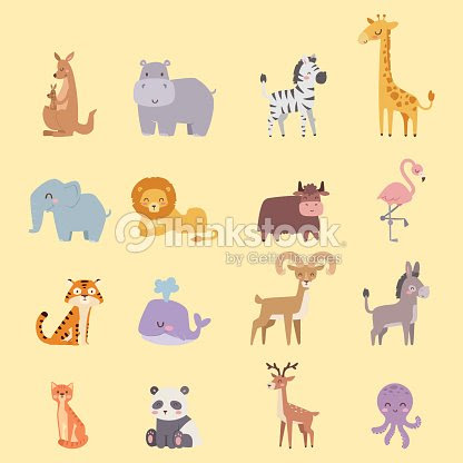 かわいい動物園漫画動物分離面白い野生動物がかわいい言語を学ぶし熱帯の