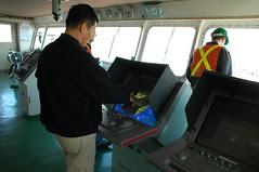 Captain at his radar station