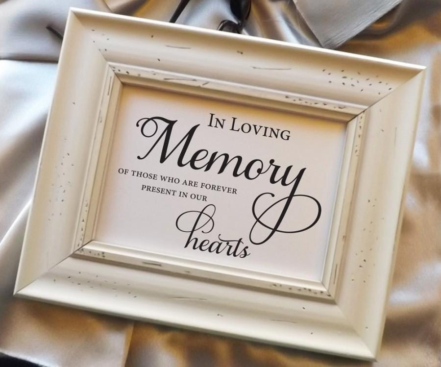 In Loving Memory Of Those Who Are Forever Present In Our Hearts