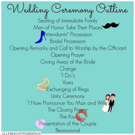Ceremony outline   ? mrs ?   Pinterest