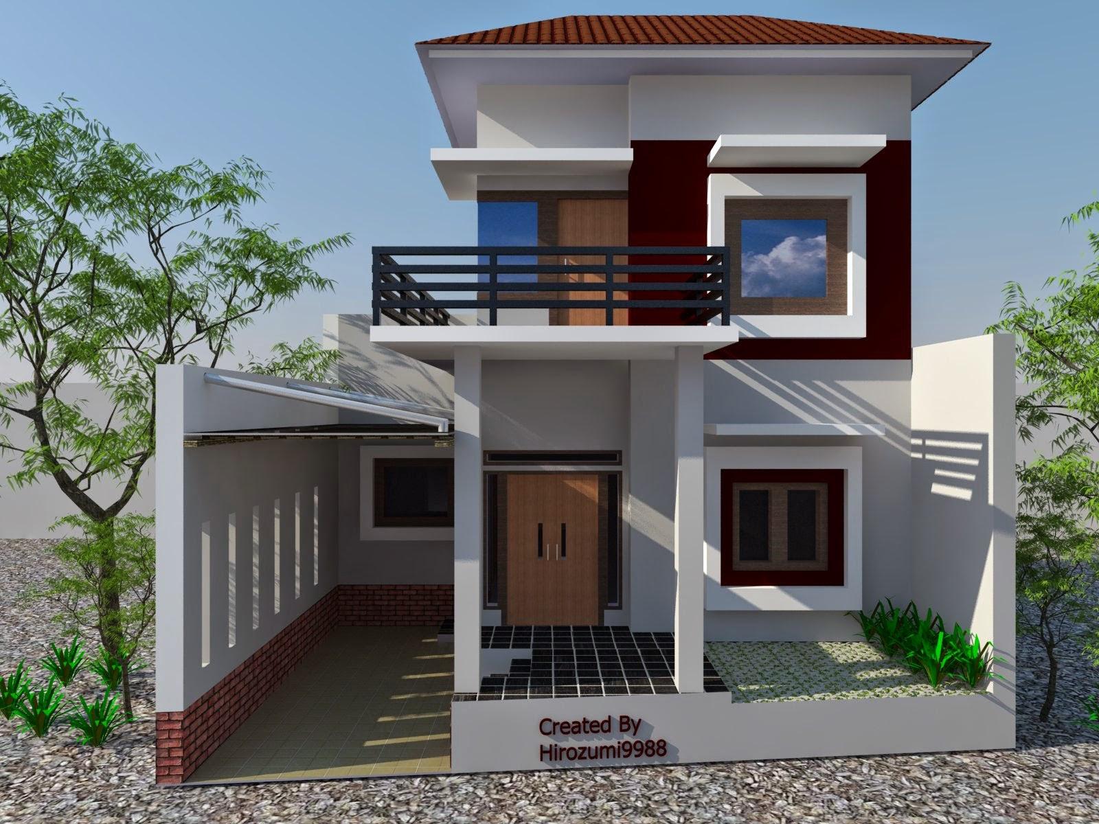 Desain  rumah  minimalis 2  lantai  terbaru Desain  Rumah