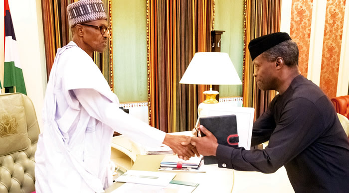 Image result for osinbajo with buhari