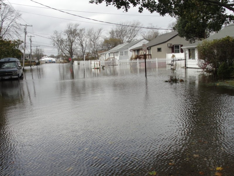 Hurricane Sandy Floods South Patchogue Streets Patchogue