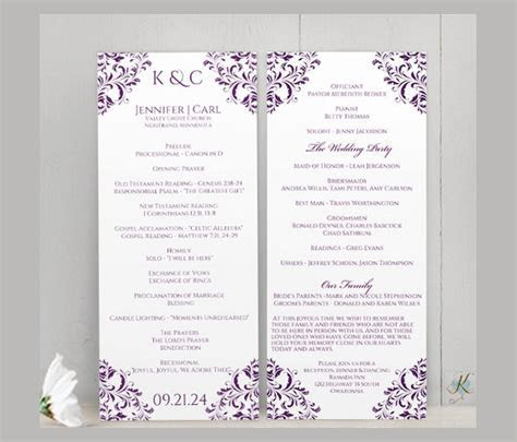 Wedding Ceremony Program Template   36  Word, PDF, PSD