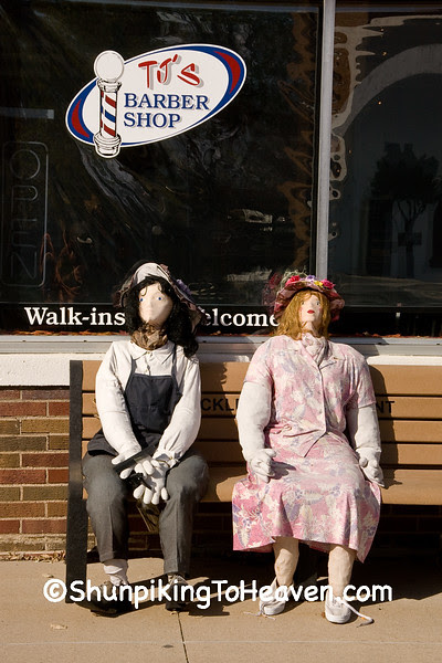 Scarecrow Dummies Waiting for a Cut, Ackley, Iowa