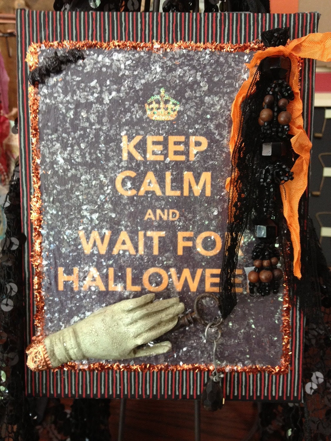 "Halloween Plaque ""Keep Calm and Wait for Halloween"""