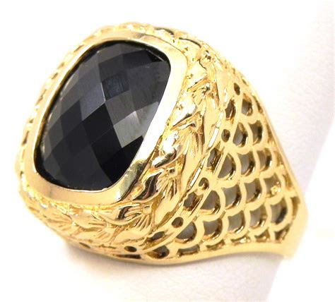 yellow gold smokey topaz ring bright jewelers