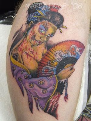 Zombie Geisha Tattoo By Mxw8 On DeviantART 300x400px
