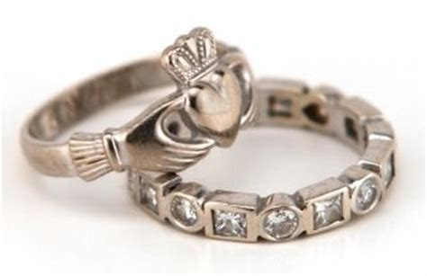 The Irish ring is also known as the Claddagh ring, after