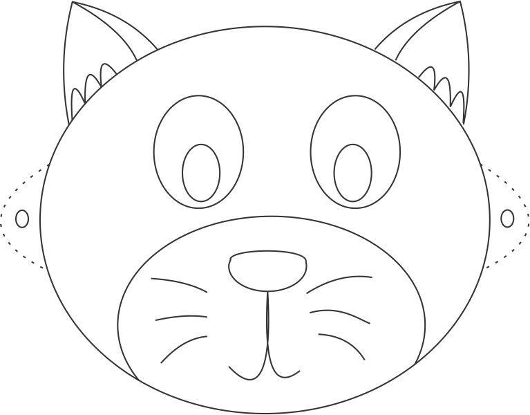 Cat Face Template - Cliparts.co