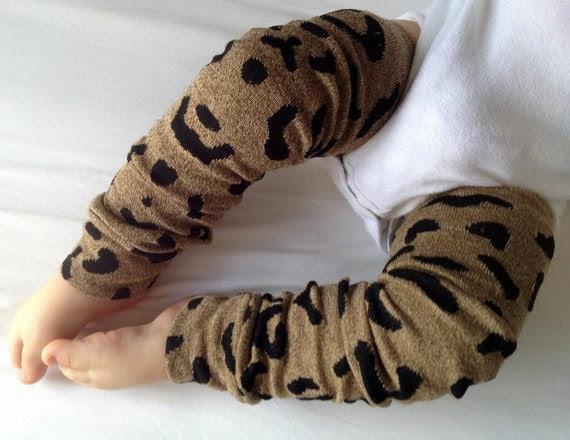 Pink and White Cheetah Print Baby Legs / Leg Warmers / Arm Warmers