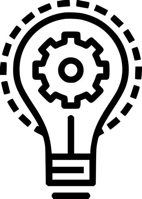 Bulb Idea Imagination Light Innovation Setting Gear Svg