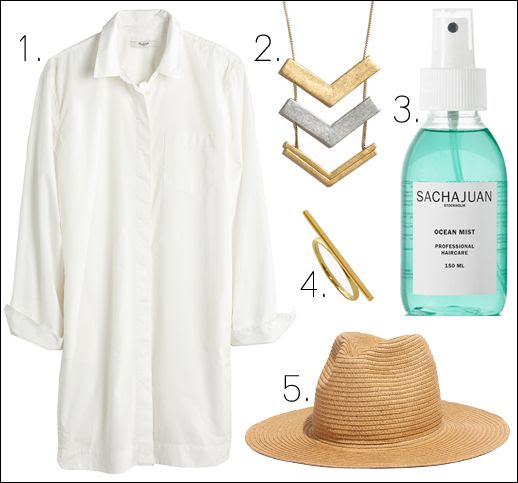 Le Fashion Blog Summer Style Madewell Shirtdress Arrow Necklace Sachajuan Ocean Mist Texturizing Spray Bar Ring Straw Hat photo Le-Fashion-Blog-Summer-Style-Madewell-Shirtdress-Arrow-Necklace-Sachajuan-Ocean-Mist-Texturizing-Spray-Bar-Ring-Straw-Hat.jpg