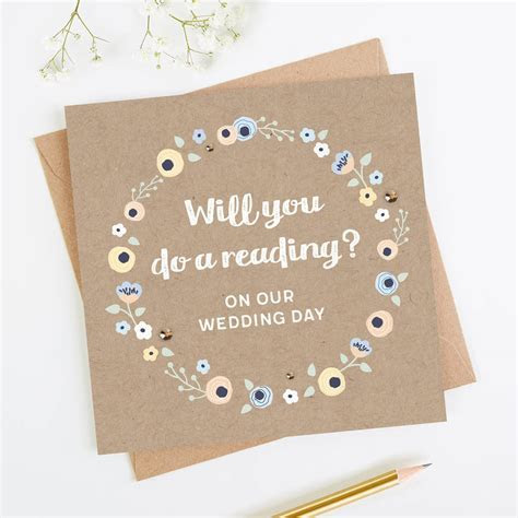 will you do a reading wedding card by norma&dorothy