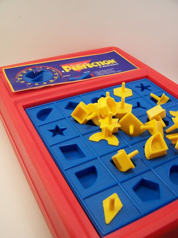 Perfection Game. This is NOT a happy memory. This has to be the most stressful game ever made! It was so nerve-racking waiting for the PoP!