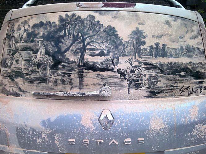 Καλλιτέχνης μετατρέπει σκονισμένα αυτοκίνητα σε έργα τέχνης (3)