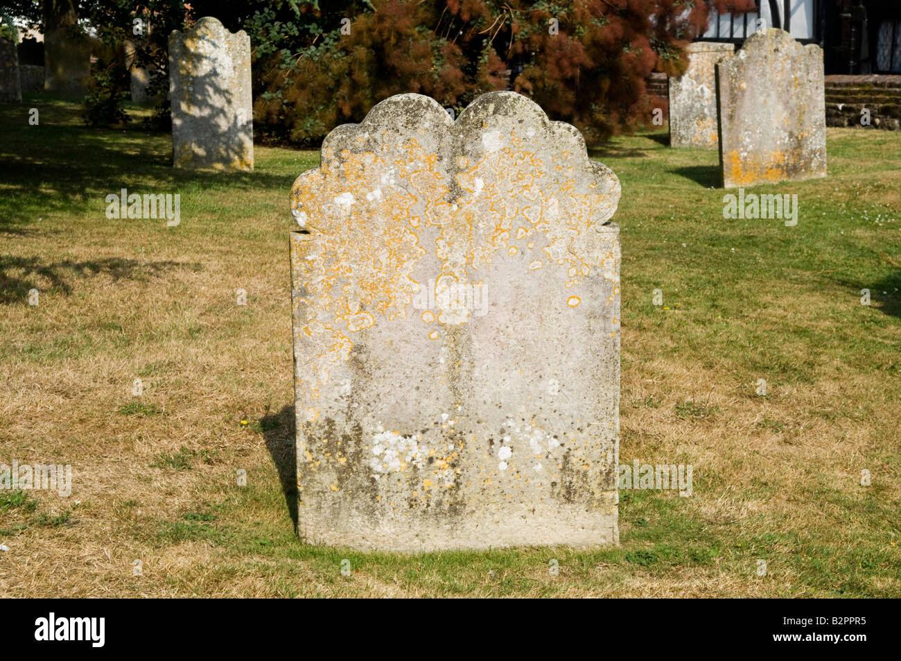 Blank Gravestone In Churchyard Stock Photo, Royalty Free Image ...