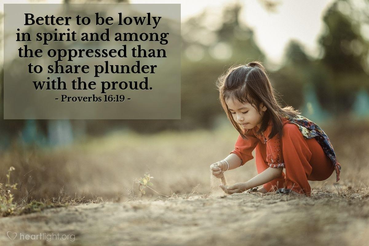 Illustration of Proverbs 16:19