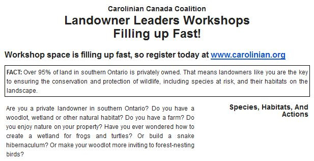 carolinian canada landowner training