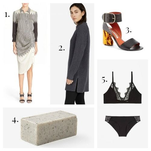 Veronica Beard Dress - Everlane Sweater - Acne Studios Shoes - Binu Binu Soap - COS Lingerie